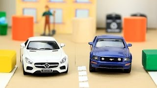 Police Chase with Racing Cars & Police Cars Video For Kids