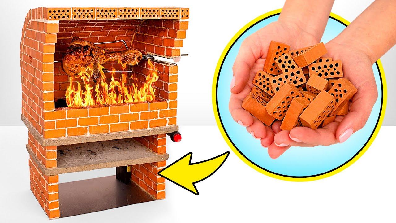DIY Automatic Rotating Mini Oven From Mini Bricks 🧱