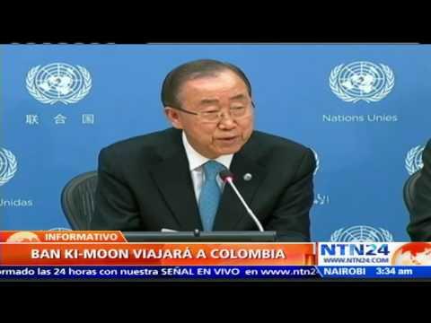 Ban Ki moon asistirá a la firma del acuerdo de paz entre el Gobierno colombiano y las FARC