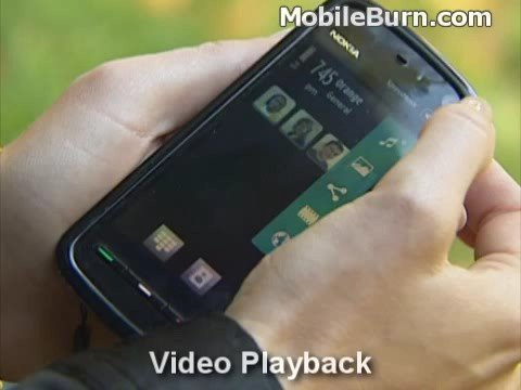 Nokia 5800 XpressMusic contacts, web, music, and video demo