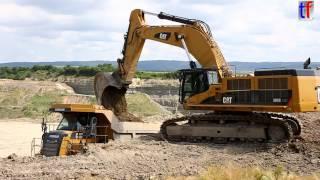 QUARRY WORK - Caterpillar 385C LME & 772 Dump Truck w. Topsoil Excavation, Germany, 2014.
