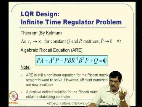 Mod-05 Lec-10 Linear Quadratic Regulator (LQR) -- I