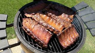 Smoking Pork Ribs on the Akorn Grill