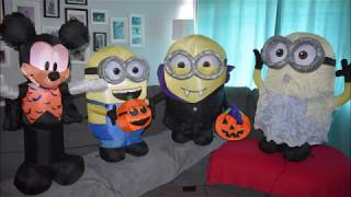 3 Minion Airblown Inflatable Halloween Unboxing Minions 2018 Gone Batty Dave Youtube