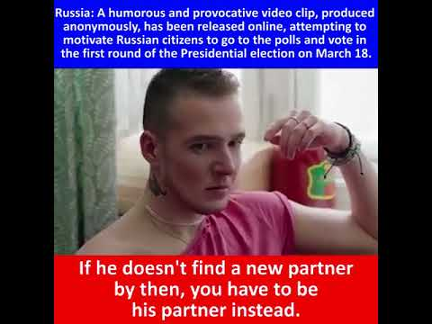 Russia : a humorous and provocative clip attemps to motivate citizens to vote
