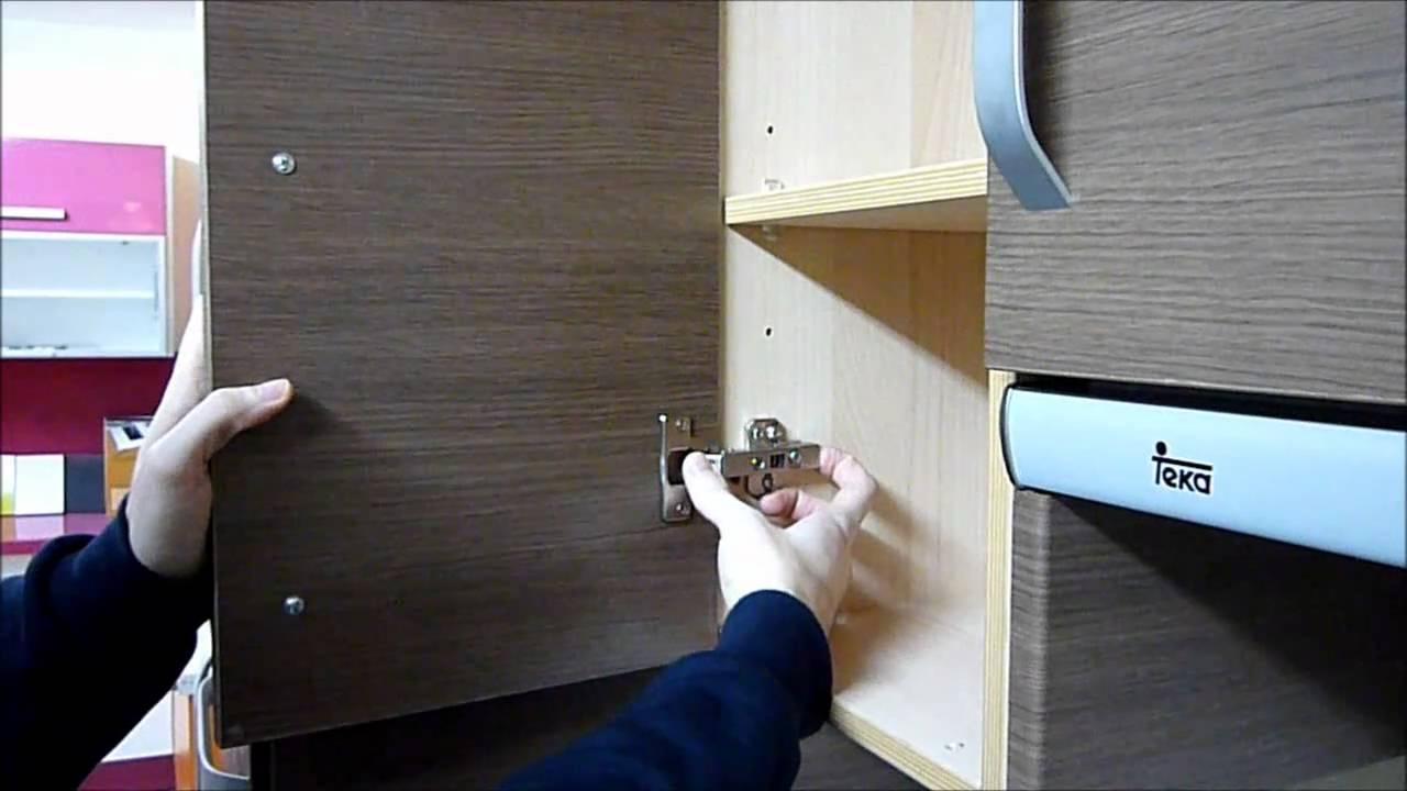 Montaje y desmontaje de puertas de cocina - YouTube