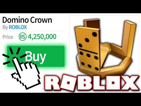 Buying A Domino Crown Super Expensive Item Roblox Youtube