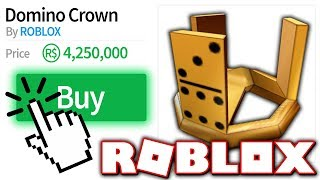 BUYING A DOMINO CROWN!! *SUPER EXPENSIVE ITEM* (Roblox)