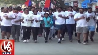 Run For Police Martyrs: Fit India Foundation Organised 4K Run In Suryapet Town | V6 News