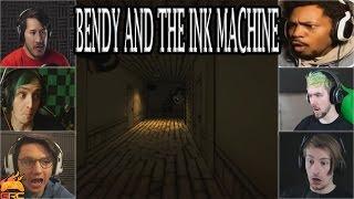Gamers Reactions to Bendy Peeking Around The Corner | Bendy and The Ink Machine