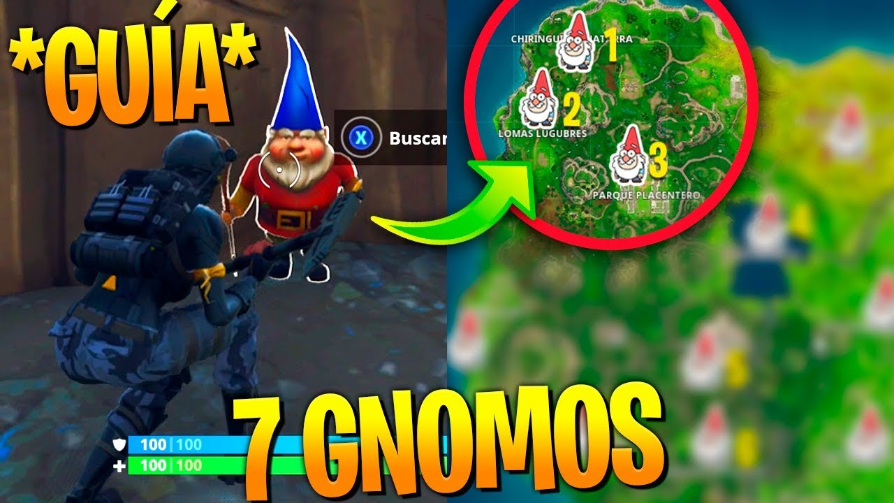 Mapa De Gnomos Fortnite.Localizacion 7 Gnomos Ocultos Guia Facil Fortnite Battle Royale
