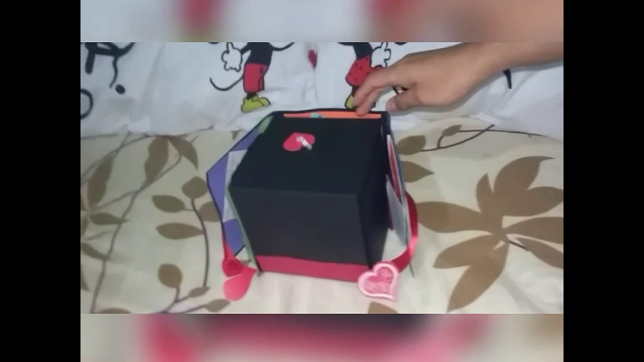caja regalo de aniversario para mi novio youtube