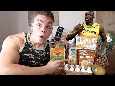 Ich esse 1 Tag lang wie USAIN BOLT (schnellster Mensch der Welt)