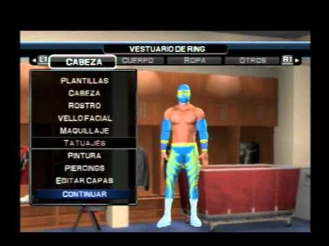 wwe smackdown vs raw 2011 how to create to sin cara mi caw ps2