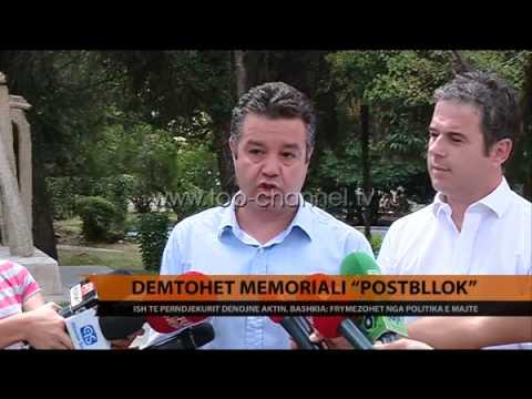 """Tiranë, dëmtohet memoriali """"Post Bllok"""" - Top Channel Albania - News - Lajme"""