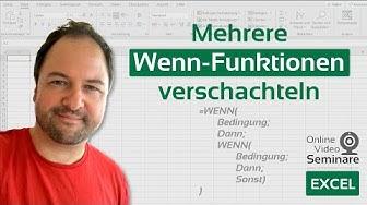 Excel: Mehrere  Wenn-Funktionen verschachteln