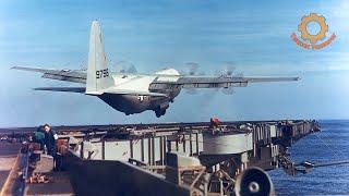 Самый большой самолет, который когда-либо садился на авианосец - C-130 Hercules