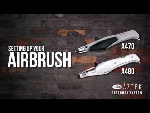 How to set up your Aztek A470 or A480 Airbrush