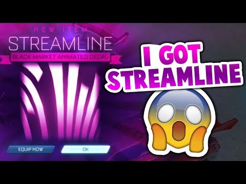 GETTING NEW STREAMLINE MYSTERY DECAL! (ROCKET LEAGUE BEST TRADES)