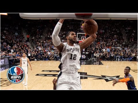 LaMarcus Aldridge's career-high 56 leads Spurs past Thunder in 2-OT thriller | NBA Highlights