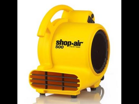 Shop-Air By Shop-Vac 500 Max CFM Air Mover Unboxing & Things You Need To Know