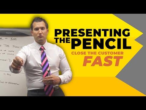 Car Sales Training: Presenting the Pencil
