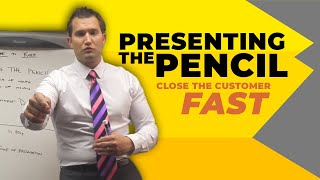 Car Sales Training: Presenting the Pencil