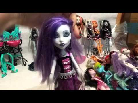Монстер Хай б.у. Обзор посылки кукол из Америки.