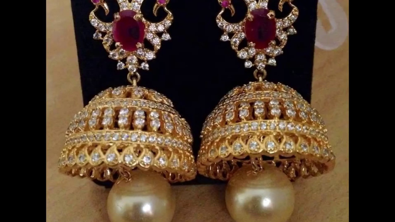 peacock jhumkas diamond jhumka