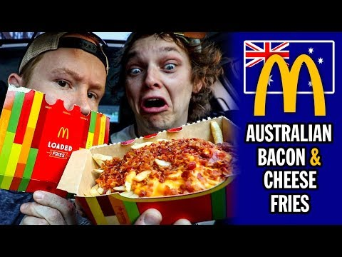 Australian McDonald's Bacon & Cheese Loaded Fries Food Review | Season 5, Episode 54