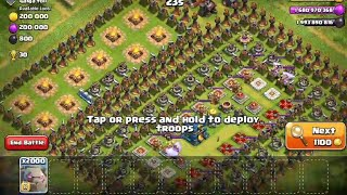 2000 Max Golem Attack To A Hard Trap Base | Clash of Clans Private Server | COC