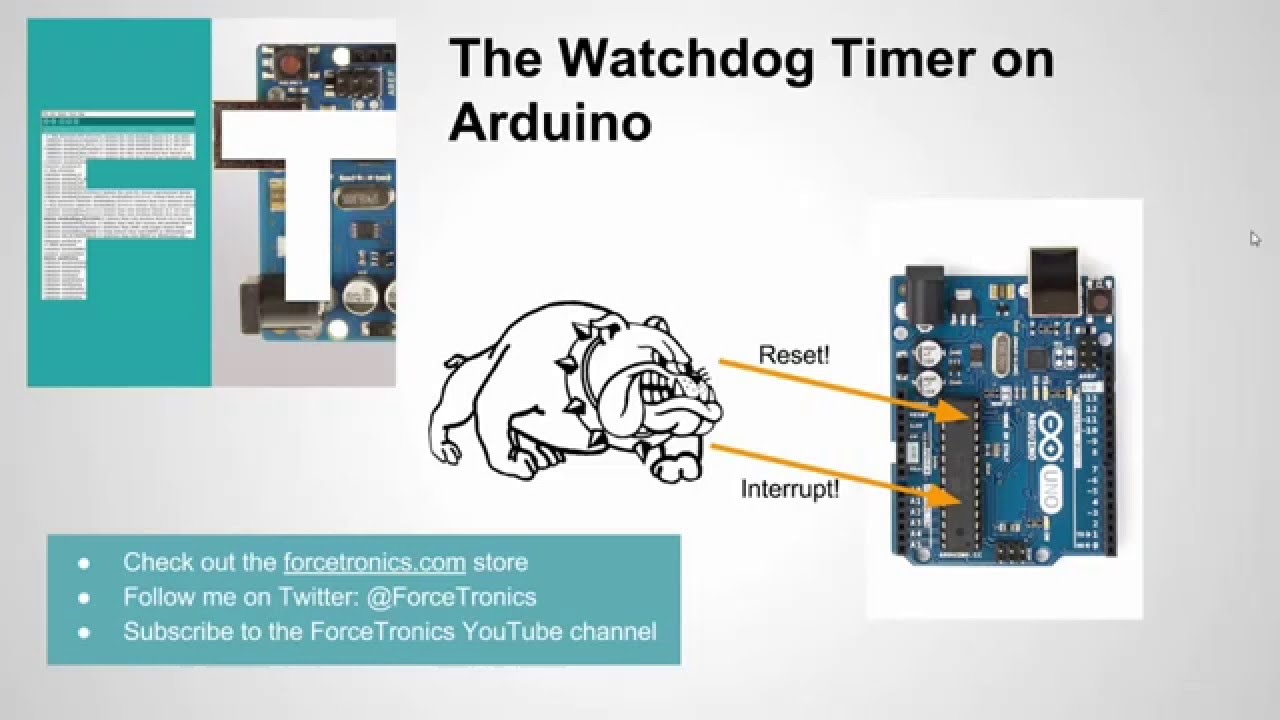 The watchdog timer on arduino youtube