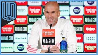 """Zinedine Zidane, técnico del Real Madrid, aseguró que no está preparando nada de la próxima temporada, ni pensando en altas y bajas, centrado """"únicamente"""" en los tres partidos que restan para acabar la temporada y el objetivo de conquistar LaLiga."""