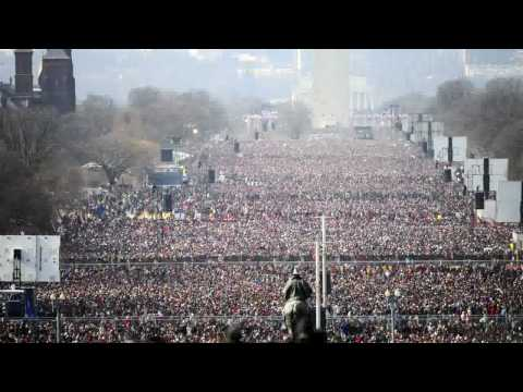 Inauguration Day on the National Mall time lapse