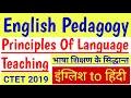 English pedagogy, Principles of Language Teaching
