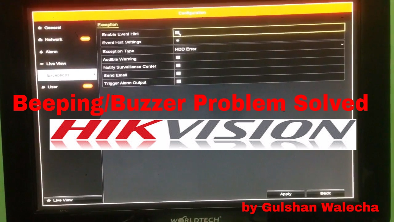 How to Solve Hikvision DVR Beeping/Buzzer Problem!