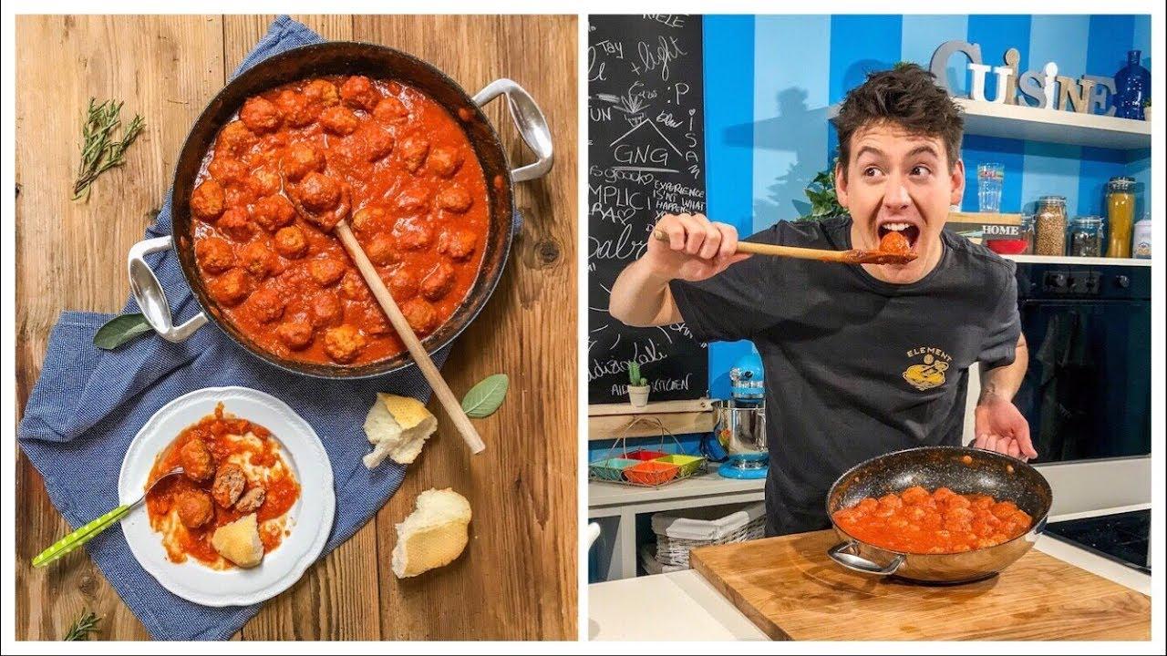 POLPETTE DI CARNE AL SUGO - morbide, gustose e pure senza glutine | Davide Zambelli