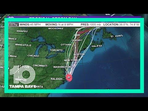 Tropical Storm Fay heads toward New York City, New Jersey coast