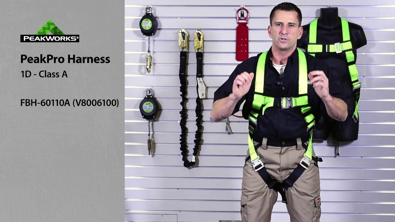 Donning a Harness - properly put on a safety harness before ...
