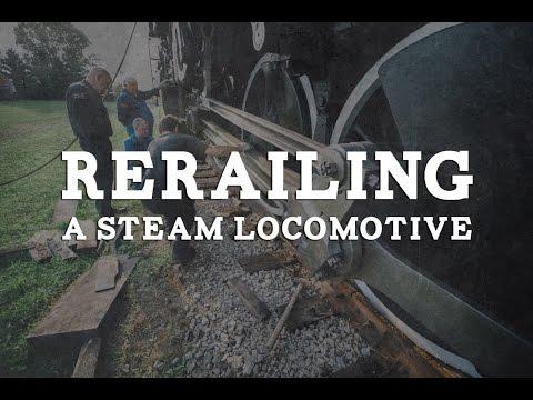 Rerailing a Steam Locomotive