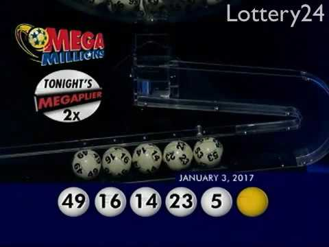 2017 01 03 Mega Millions Numbers and draw results
