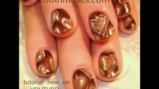 Nail Art Tutorial | Diy Valentine's Day Nail Art | Chocolate Candy Heart Nail Design