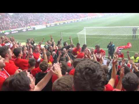 Děkovačka Jardy Zmrhala :) SK Slavia Praha vs sparta 1:0