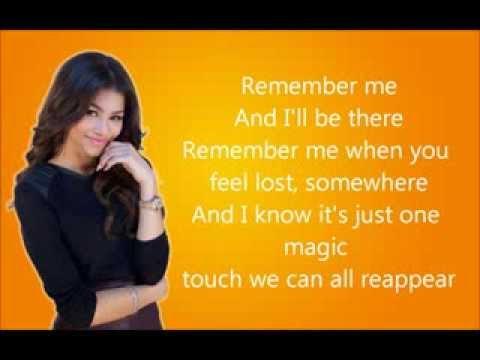 Zendaya - Remember Me (Lyrics Video)