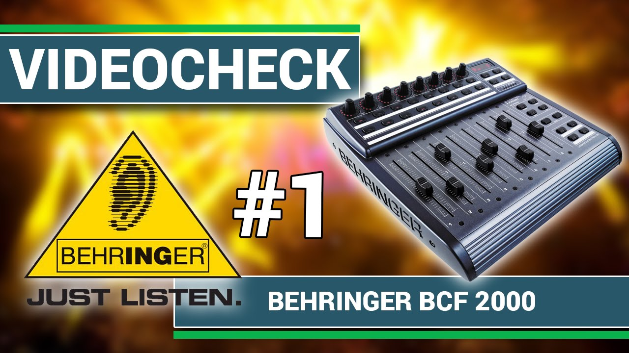 Behringer BCF-2000 Midi Controller Part 1/2 | stage review