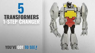 Top 10 Transformers 1-Step Changer [2018]: Transformers Robots in Disguise 1-Step Changers Gold