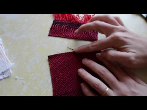 Cutting hand woven cloth, part 1