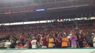watch miami fans throw trash at fsu players