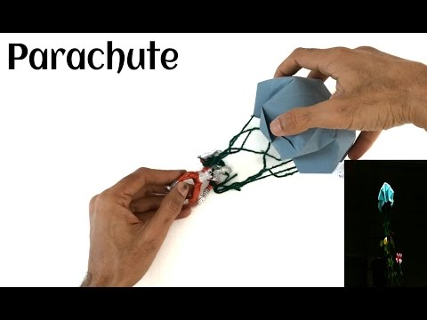 """How to make a Paper """"Parachute """" that flies and Lands safely and smoothly - Origami"""