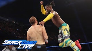 Kingston & Rollins vs. Owens & Zayn – 2-out-of-3 Falls Match: SmackDown LIVE, June 18, 2019